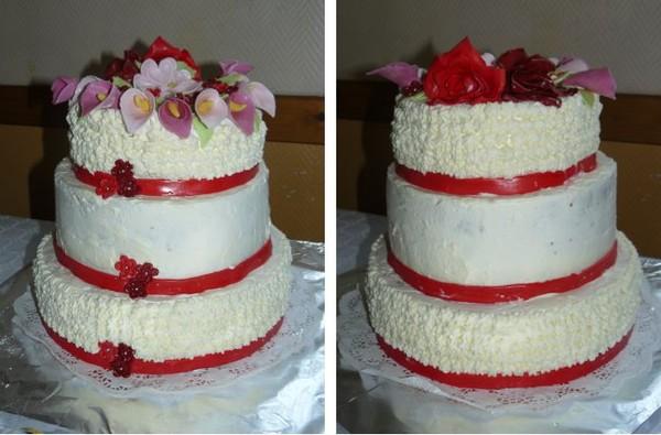 Pièce montée de gâteau déco bouquet de fleurs - gateaux piece ...