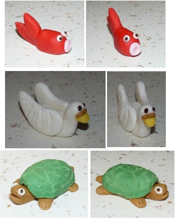 animaux en p 226 te 224 sucre poisson cygne et tortue
