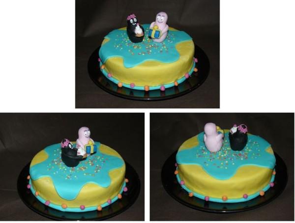 Gateau anniversaire enfant pate a sucre - Decoration anniversaire barbapapa ...