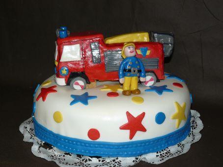 Gateau anniversaire enfant 3d - Gateau anniversaire sam le pompier ...